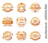 bakery gold badge icon fashion... | Shutterstock .eps vector #630541583