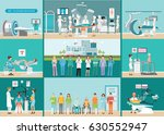 doctors and patients in... | Shutterstock .eps vector #630552947