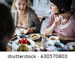 friends gathering together on... | Shutterstock . vector #630570803