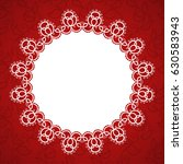 round lace frame with a place...   Shutterstock .eps vector #630583943