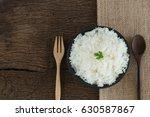 grains cooking of thai jasmine... | Shutterstock . vector #630587867