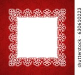 square lace frame with a place...   Shutterstock .eps vector #630610223