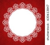 round lace frame with a place...   Shutterstock .eps vector #630613847