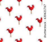 lollipops. the cute candy cocks.... | Shutterstock .eps vector #630621767