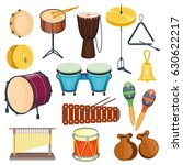 vector percussion musical... | Shutterstock .eps vector #630622217