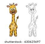 illustration of a cute giraffe  ... | Shutterstock .eps vector #630625697