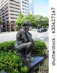 statue naked girl  at kitano... | Shutterstock . vector #630627167