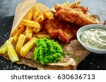 british traditional fish and...   Shutterstock . vector #630636713