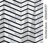 zig zag patterns in building.   Shutterstock .eps vector #630640157