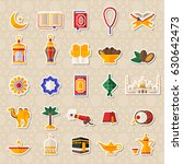 set of ramadan kareem icons... | Shutterstock .eps vector #630642473
