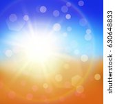 bright summer background.... | Shutterstock .eps vector #630648833