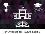 education concept with low poly ... | Shutterstock .eps vector #630652553