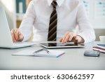 close up of businessman's hands ... | Shutterstock . vector #630662597