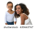 happy african ethiopian mother... | Shutterstock . vector #630663767