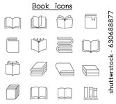 book icon set in thin line style | Shutterstock .eps vector #630688877