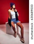 fashion portrait pretty woman... | Shutterstock . vector #630689033