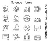 science icon set in thin line... | Shutterstock .eps vector #630689573