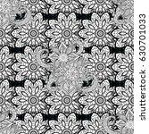 seamless white textured curls....   Shutterstock .eps vector #630701033
