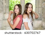 attractive twins sisters two...   Shutterstock . vector #630702767