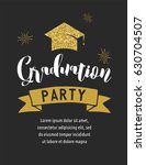graduation class of 2017  party ... | Shutterstock .eps vector #630704507