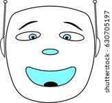 simple cartoon robot face | Shutterstock .eps vector #630705197