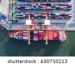 port of business transaction... | Shutterstock . vector #630710213