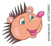 hedgehog's head. cartoon style. ... | Shutterstock .eps vector #630713843