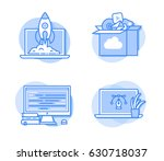 web development icons | Shutterstock .eps vector #630718037