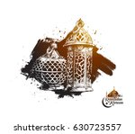 eid mubarak background with... | Shutterstock .eps vector #630723557