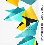 3d triangles geometric vector... | Shutterstock .eps vector #630724877