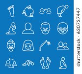 set of 16 person outline icons... | Shutterstock .eps vector #630737447