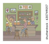 funny cartoon illustration... | Shutterstock .eps vector #630749057