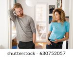 couple having arguments at home ... | Shutterstock . vector #630752057