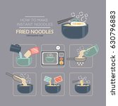 cooking instruction icon set ... | Shutterstock .eps vector #630796883