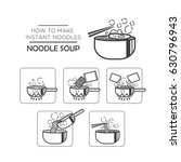 cooking instruction icon set ... | Shutterstock .eps vector #630796943