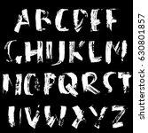hand drawn dry brush font.... | Shutterstock .eps vector #630801857