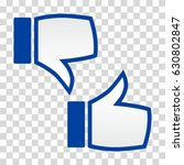 like and dislike icon. thumbs... | Shutterstock .eps vector #630802847