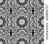 brown vector ethnic elements... | Shutterstock .eps vector #630806717