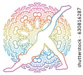 Mandala Round Background. One...