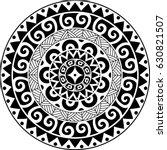 circular ornament. polynesian... | Shutterstock .eps vector #630821507