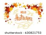 maple fall leaves design.... | Shutterstock .eps vector #630821753