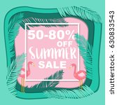 summer sale banner with... | Shutterstock .eps vector #630833543