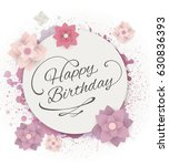 vector illustration of a happy... | Shutterstock .eps vector #630836393