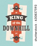 king of the downhill. vector... | Shutterstock .eps vector #630837593