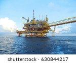 offshore construction platform... | Shutterstock . vector #630844217