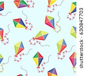 kite seamless pattern. summer... | Shutterstock .eps vector #630847703