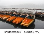 many boats waiting for tourists ... | Shutterstock . vector #630858797