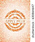 apply now abstract orange... | Shutterstock .eps vector #630864647