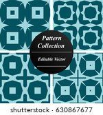 simple pattern collection with... | Shutterstock .eps vector #630867677