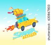 vector illustration of summer... | Shutterstock .eps vector #630867803